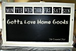 My Home Goods Chalkboard Redo
