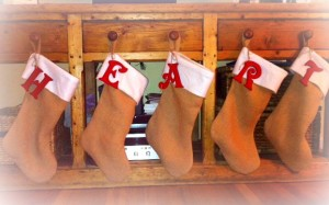 Burlap Stocking 2013
