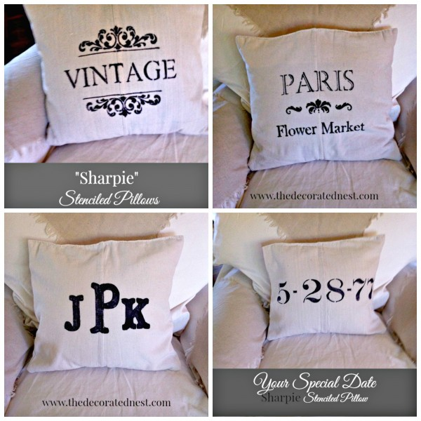 Sharpie Market Pillows