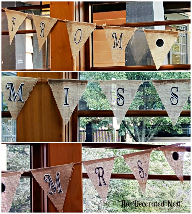 From Miss to Mrs Burlap Banner