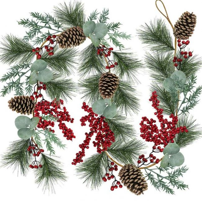 Pine needle twig garland-rustic-lodge-christmas-shopping-guide-www.nesteddesigncompany.com