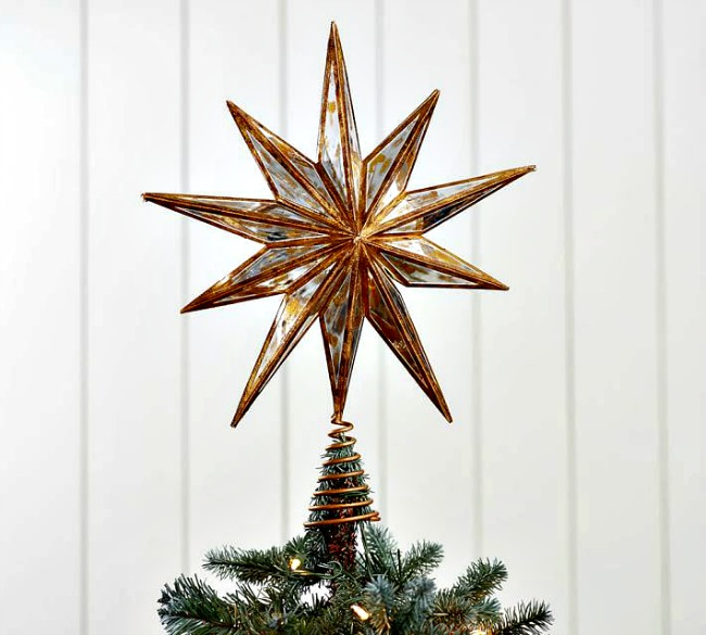 vintage inspired mirrored star in gold