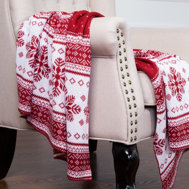 knitted blanket-rustic lodge christmas decorations-www.nesteddesigncompany.com