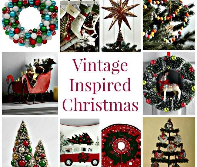 vintage holiday decorations