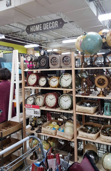 clocks, globes, magnifiers