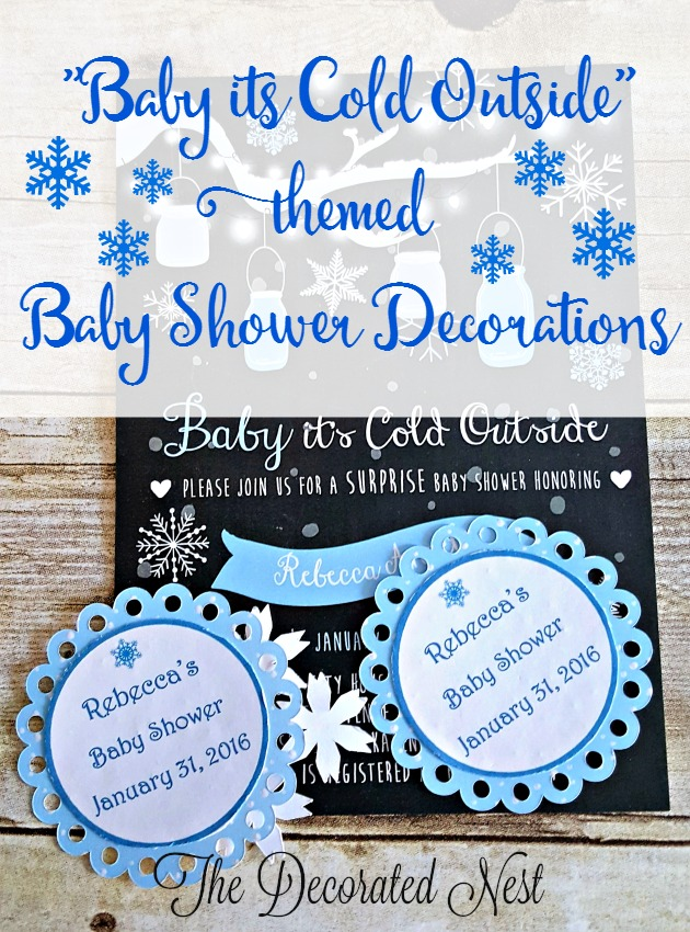 "Make Decorations for a ""Baby It's Cold Outside"" Themed Baby Shower"