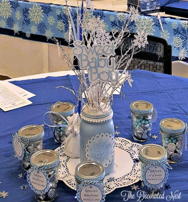 table setup-baby boy shower-www.thedecoratednest.com