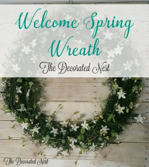 money shot- Welcome-Spring-wreath-www.thedecoratednest.com