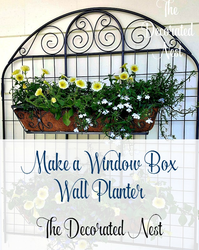 Make a Trellis Window Box Wall Planter