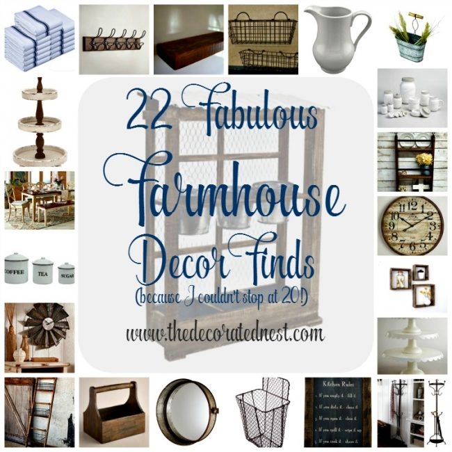 22 Fabulous Farmhouse Decor Finds!