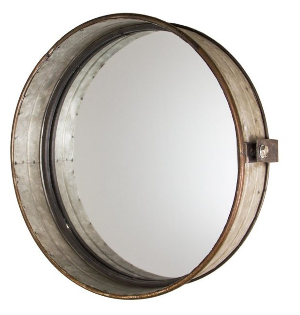 Industrial chick drum mirror in rustic amazon the nested for Industrial design company
