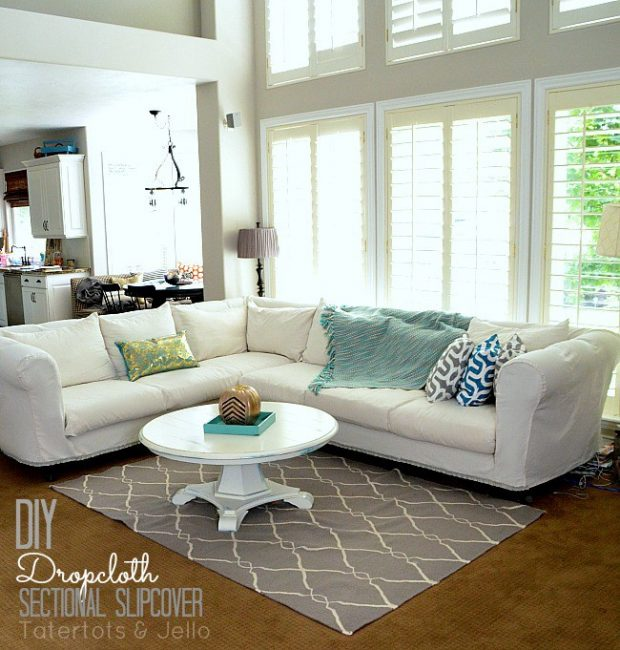 diy-cropcoth-sectional-slipcover-tutorial TATER TOTS AND JELLO