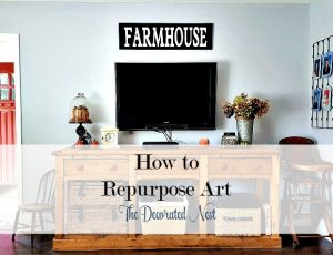 Repurposed art to FARMHOUSE sign