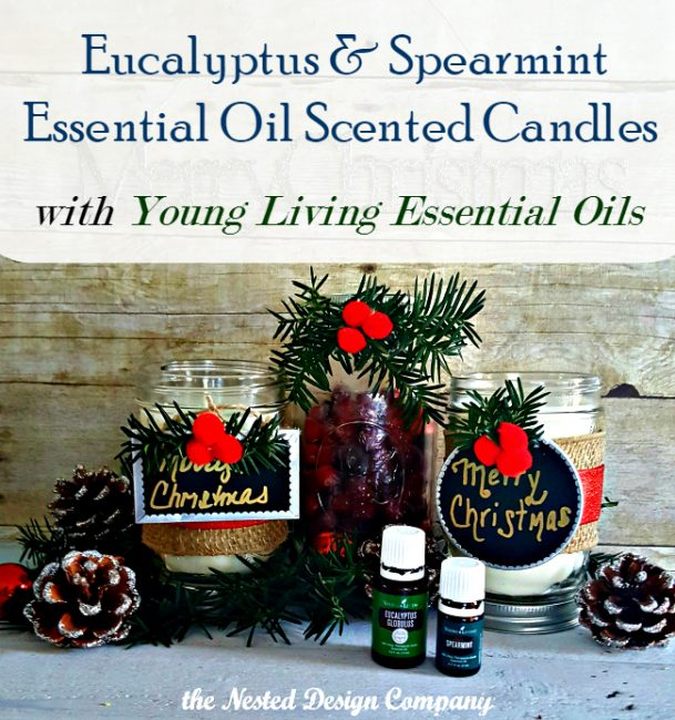 Essential Oil Scented Candles-How to make Eucalyptus Spearming Candles-www.nesteddesigncompany.com
