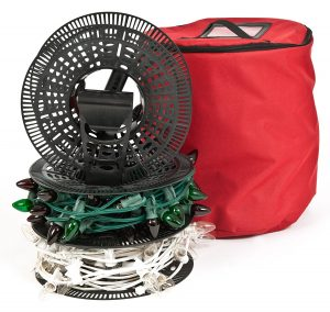 Christmas Light storage 3 50 ft reels-10 Christmas Decoration Storage Ideas-www.nesteddesigncompany.com