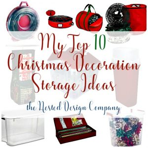 Top 10 Christmas Decoration Storage Ideas Collage-www.nesteddesigncompany.com