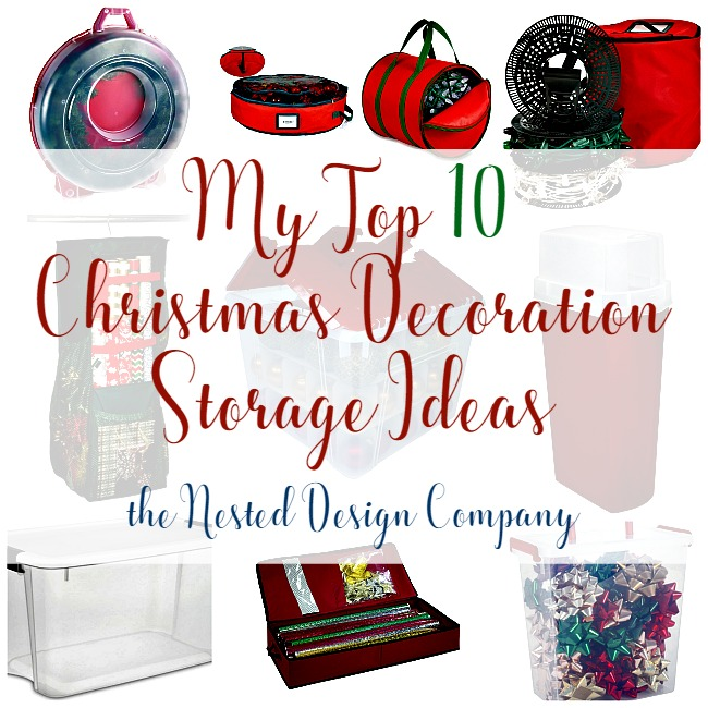 Top 10 Christmas Decoration Storage Ideas