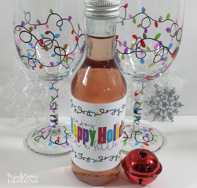 Christmas-Wine-Glasses-michelle james designs-Sharpie Paint Pen projects-www.nesteddesigncompany.com