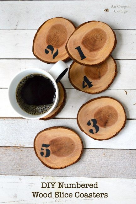 Numbered-Wood-Slice-Coasters-An Oregon Cottage-Sharpie Paint Pen & Marker Projects-www.nesteddesigncompany.com