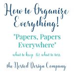 How to Organize Everything!-Organizing Important Papers!