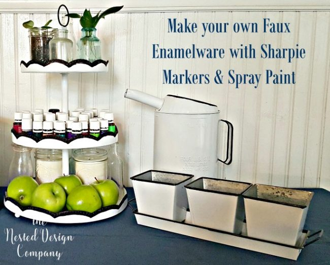 3 tiered tray-oil can-tray with bins-make faux enamelware-www.nesteddesigncompany.com