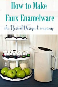 How to make Faux Enamelware-www.nesteddesigncompany.com