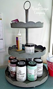 galvanized three tier shelf-How to make faux enamelware-www.nesteddesigncompany.com