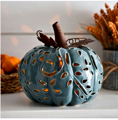 Blue Prelit Pumpkin-ue-20-fall pumpkins to make or buy-www.nesteddesigncompany.com