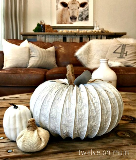 dryer-vent-pumpkin twelve on main-20-fall-pumpkins-to make or buy-www.nesteddesigncompany.com