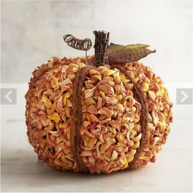 corn husk pumpkin-20-fall-pumpkins-to-craft-or-buy-www.nesteddesigncompany