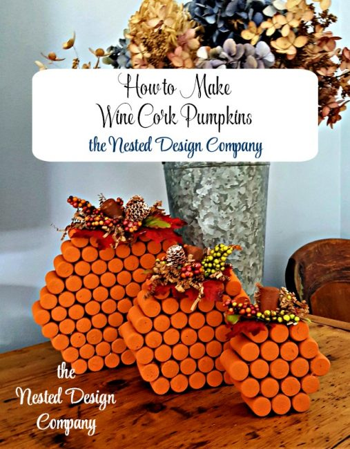 How to Make Wine cork Pumpkin tutorial-www.nesteddesigncompany.com