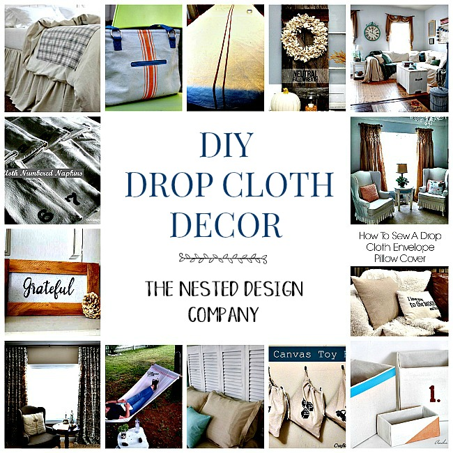 DIY projects made with canvas drop cloths