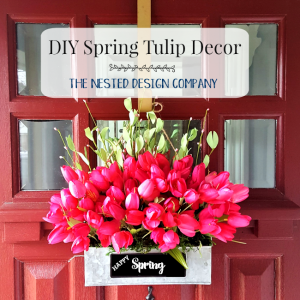 How to make a tulip door decor
