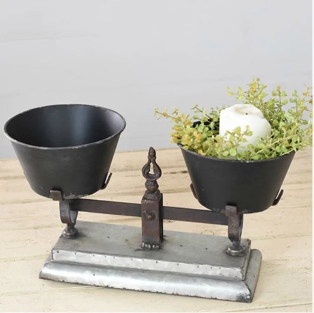 double pot balance farmhouse scale