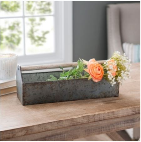 Galvanized metal dowel caddy