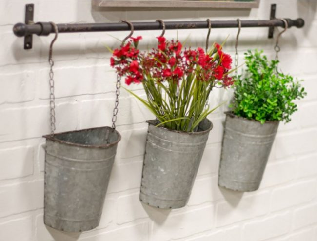 Galvanized Hanging basket rack