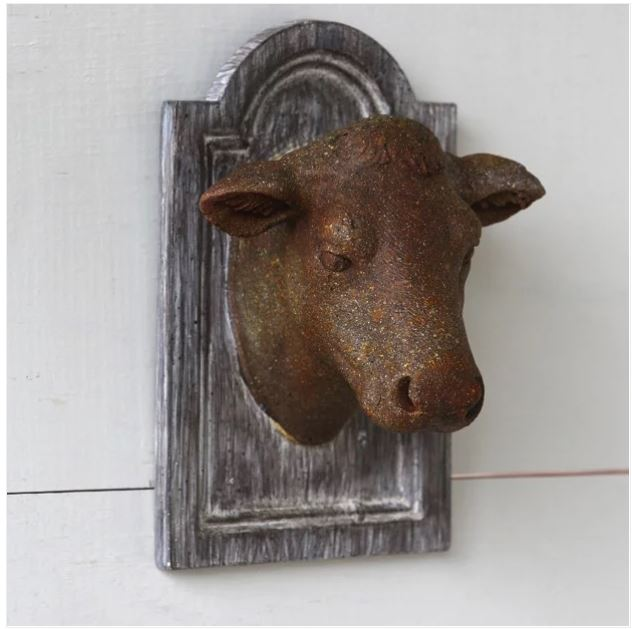 farmhouse heifer cow head plaque