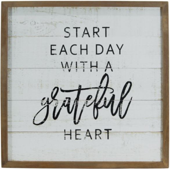 Grateful heart farmhouse sign