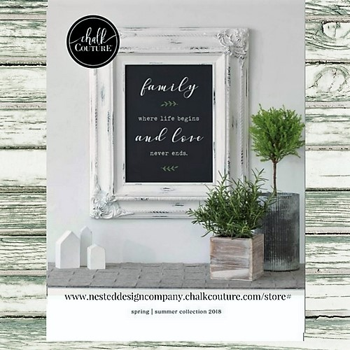 Creating art and decor with Chalk Couture Chalk Paste & ink