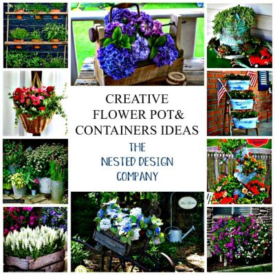 Creative Flower Pot & Container Ideas