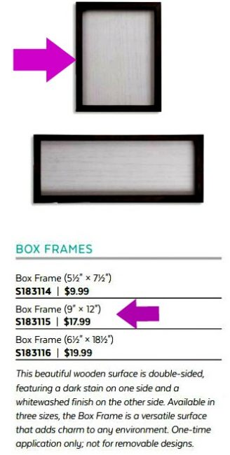 Reversable Box Frames