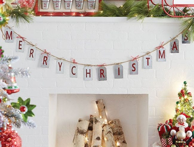 Farmhouse Christmas style Merry Christmas Garland