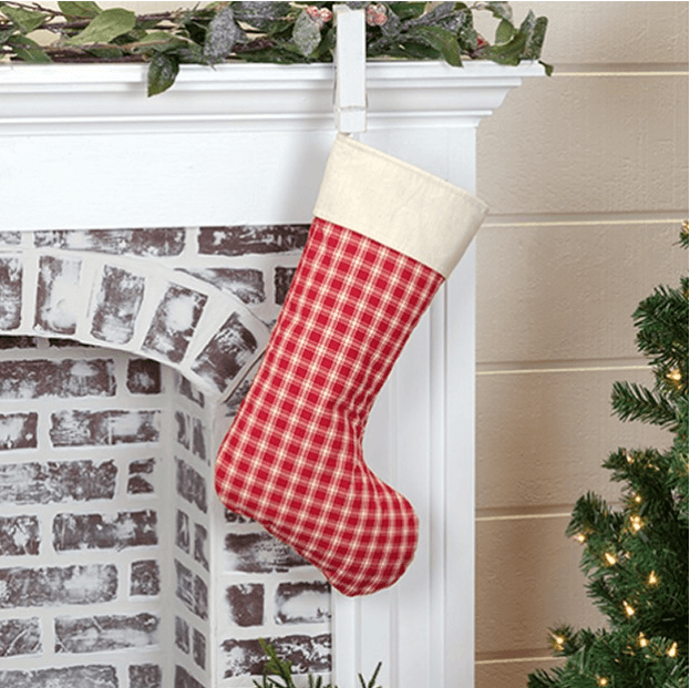 Farmhouse Plaid Christmas Stocking
